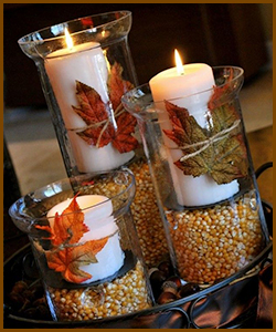 Fall Decorations - Candles