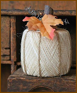 Fall Decorations - Twine Pumpkin