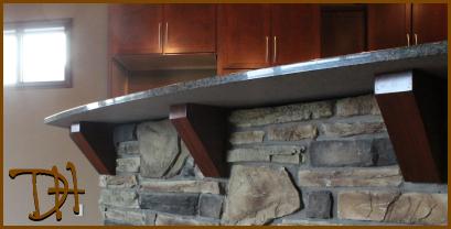 Granite Countertop Wooden Corbels