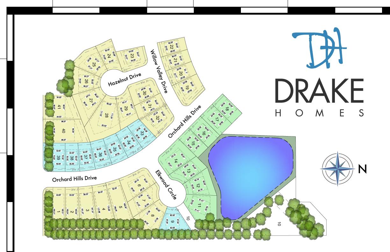 Drake Homes - Sunset Estates - Plat Map